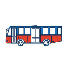 modern public transport bus city transit shorter vector image
