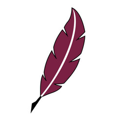 old quill feather quill and ink icon vector image