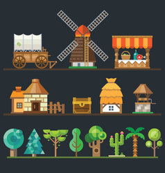Old village vector image