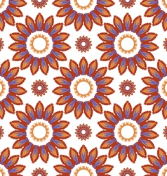 Pattern abstract sunflowers vector image
