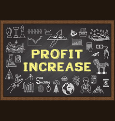 profit increase vector image