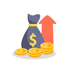Profit money icon vector