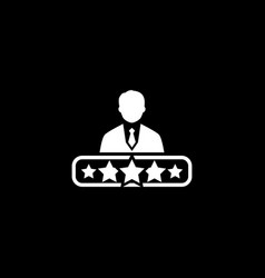 quality management icon flat design vector image