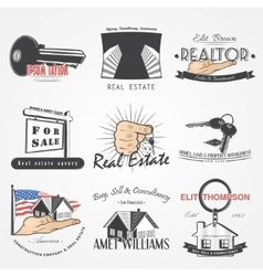 Real estate agency set Buy Sell and Consultancy vector image
