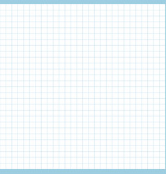Realistic blank checked copybook paper vector