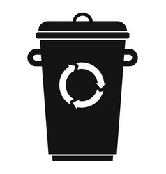 recycling bin garbage icon simple style vector image