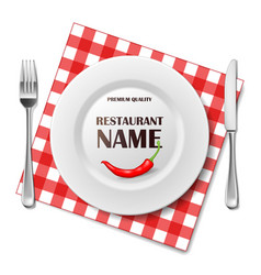 restaurant realistic advertisement banner or vector image