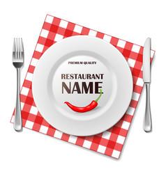 restaurant realistic advertisement banner vector image