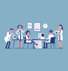 scientists at work vector image