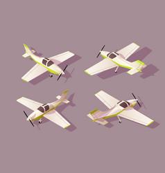 set light aircraft for transportation air vector image