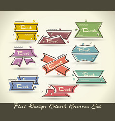 set of flat labels paper tagspromotion banners or vector image