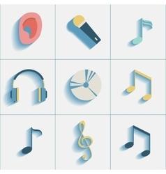 Set of musiacl social media icons vector