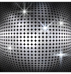 Silver shiny mosaic background vector image