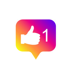 social media modern like sign gradient color vector image