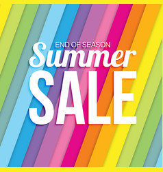 summer sale on colorful striped seamless vector image