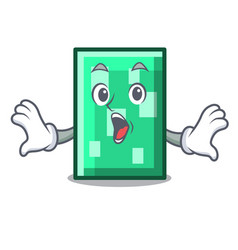 surprised rectangle mascot cartoon style vector image