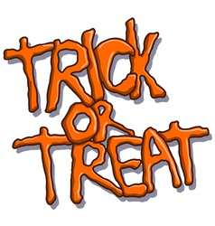 Trick or treat halloween text vector