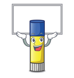 Up board glue stick in the cartoon shape vector