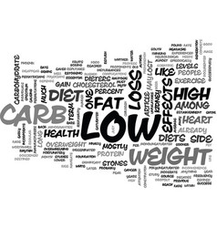Whither low carb text word cloud concept vector