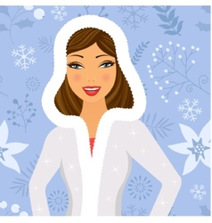 Winter beauty vector image