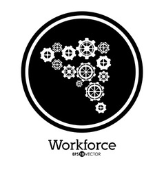 Workforce design vector