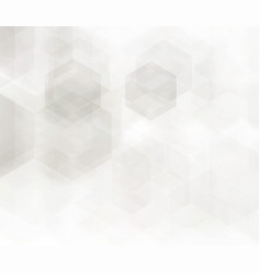 abstract geometric background grey hexagon vector image vector image
