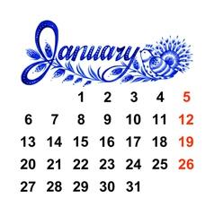 Calendar january 2014 vector