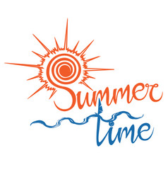 summer logo time enjoy your holidays vector image