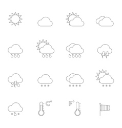Weather Icons Line vector image