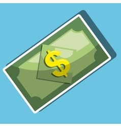 dollar bills isolated icon design vector image vector image