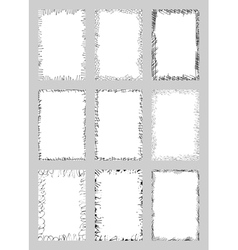 Paper with messy ink edges vector image vector image