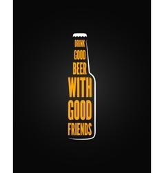 Beer bottle design background vector