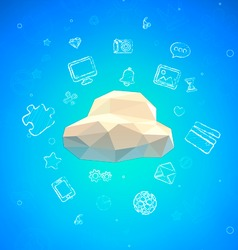 Cloud lowpoly vector