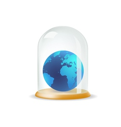 Earth covered with a glass cover vector image vector image