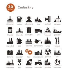 Industrial icons9 vector image