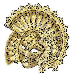 venetian carnival mask vector image vector image