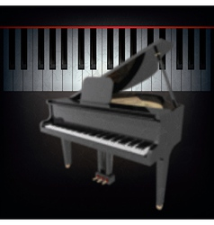Abstract grunge black background with grand piano vector