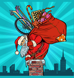 activities and games santa claus with gifts vector image