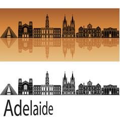 adelaide skyline v2 vector image
