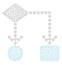 Algorithm flowchart polygonal frame mesh vector