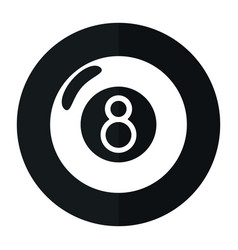 billiard ball eight shado vector image