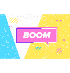 boom in design banner template for web vector image