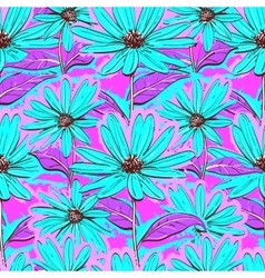 Bright floral seamless pattern wallpaper vector