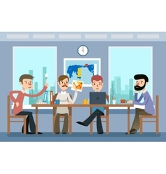 Business meeting Team working office vector