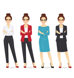 business woman set vector image