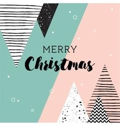Christmas card Abstract geometric scandinavian vector
