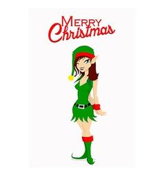 Christmas Santa elf vector