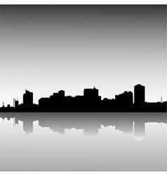 city-skyline-dusk vector image