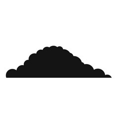 Cloudy icon simple style vector