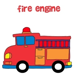 Collection style of fire engine vector